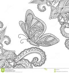 henna mandala flower tattoo design stock image girls