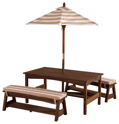 kidkraft patio furniture kidkraft outdoor table and bench set with cushions and