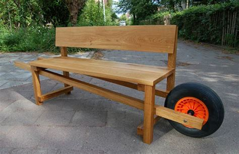 gardening bench with wheels two inspiring design ideas unique diy garden decorations
