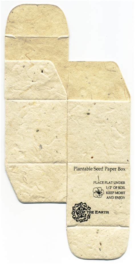 How To Make Seeded Paper - flower seed boxes square favor boxes made with seed