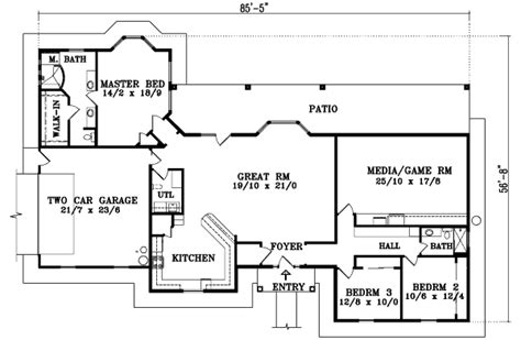 2610 square feet 3 bedrooms 2 189 batrooms on 2 levels mediterranean style house plan 3 beds 2 baths 2610 sq ft