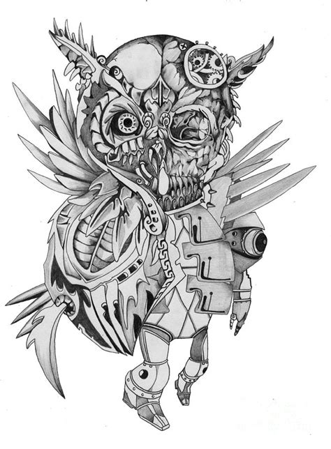 cabins in the woods grayscale coloring book books steam skeleton owl drawing by ken nguyen