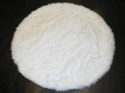white plush area rug 8 diameter white area rug plush faux fur