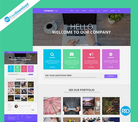 Web Template Psd Free Psd Free Download Free Web Templates 2017