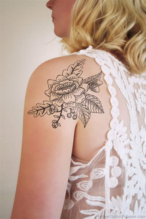 vintage floral tattoo designs 73 great vintage flower tattoos on shoulder