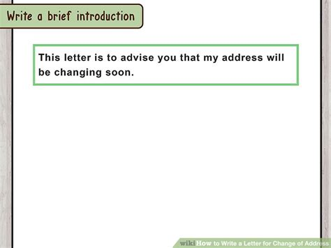 how too write adress on letter how to write a letter for change of address with pictures