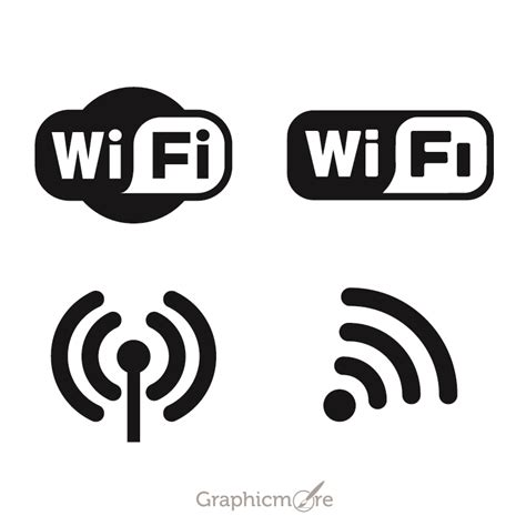 free eps format logos wifi logo icons set design free vector file download by