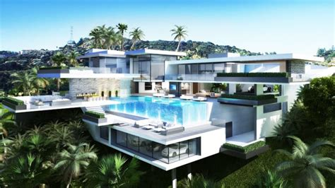 modern mansion two luxury ultramodern mansions on sunset plaza drive in la