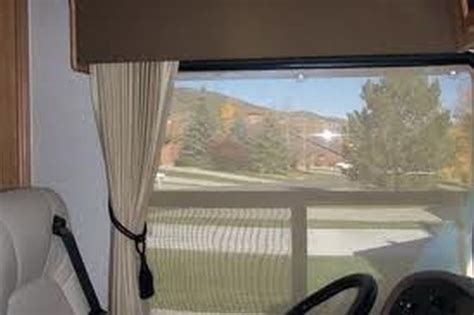 rv curtains for windshield make a comfort zone with rv window shades and rv