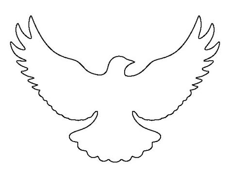 dove templates free flying dove pattern use the printable outline for crafts