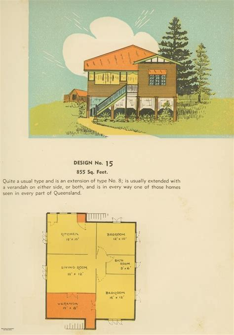 floor plan and drawing of queenslander house 1939