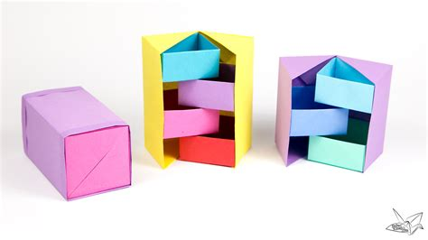 origami secret stepper box tutorial paper kawaii