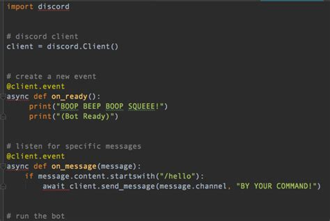 discord bot maker linux automation tip listen for commands with your