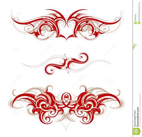 tribal scroll tattoo designs tribal stock vector image of swirls scroll wave