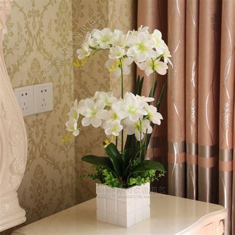 decorative vase vases flower vase flowers orchid white 1 set 4 color flower vase artificial orchid silk cloth
