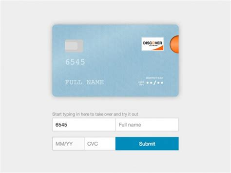 Credit Card Form Js Credit Card Form Js Plugin Freebiesbug