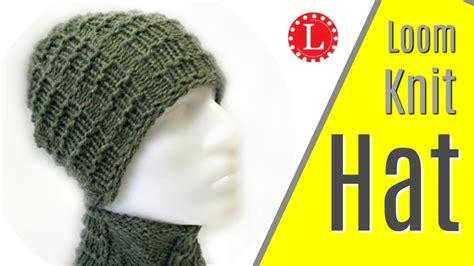 loom knit mens hat loom knit mens hat brimless pattern w waffle stitch