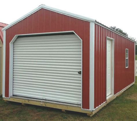 Metal Shed Garage by Z Metal Garage Rent2ownsheds