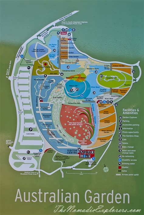 Royal Botanic Gardens Victoria Cranbourne Gardens In Late Melbourne Botanical Gardens Map