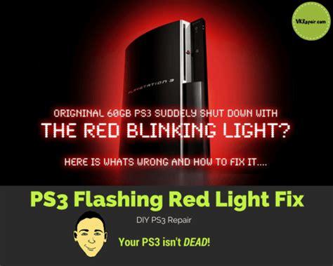 playstation 3 blinking red light repair ps3 blinking red light problem