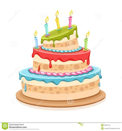 torta de cumplea 241 os con las velas del cumplea 241 os torta de cumplea 241 os dulce con las velas ilustraci 243 n del