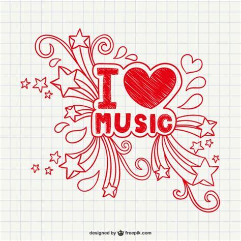 imagenes de i love la musica i love music vector vector free download