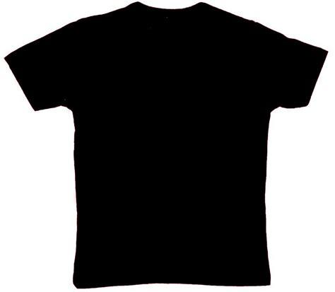 Tshirt Kaos Baju Hitam kaos hitam polos clipart best