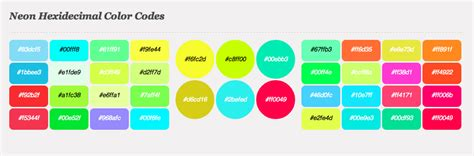 neon color codes could neon fluor be a new trend in webdesign eureka