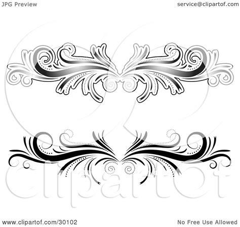 flourish tattoo designs clipart illustration of two black and white flourish