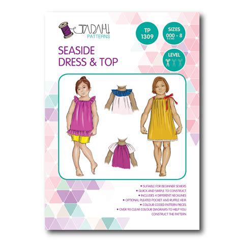 pattern sewing online tadah sewing pattern seaside dress top sewing