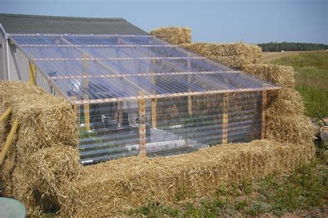 diy straw bale greenhouse home design garden