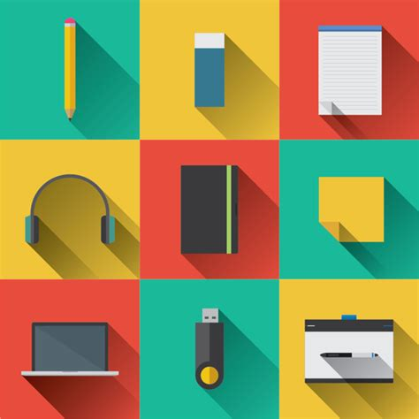 flat design icon download free 9 flat long shadow icons vector titanui