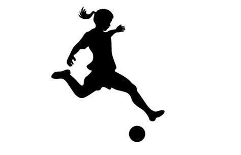 Girls playing soccer silhouette vector | mc | Pinterest ... Girl Soccer Silhouette Clip Art