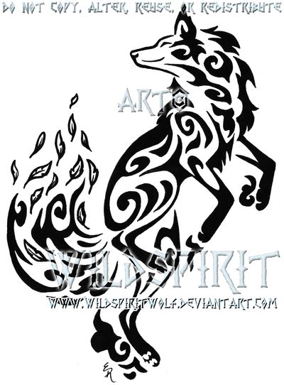 dancing fox wind tribal tattoo by wildspiritwolf on deviantart