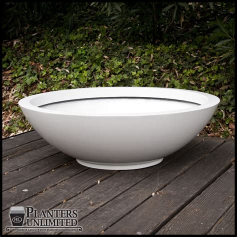 low bowl planters 36 quot dia x 11 quot h low bowl planter