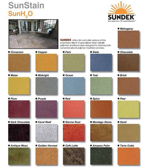 Available Water based stain colors in Orange County, CA