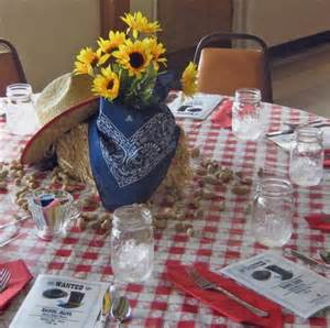 image western table decorations