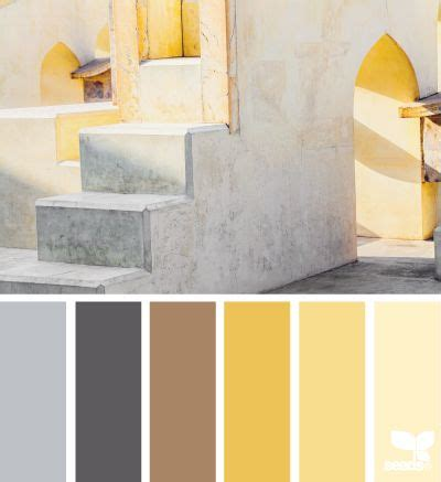 design seeds yellow and color palettes on
