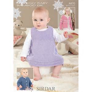 Baby dress knitting pattern pinafore images