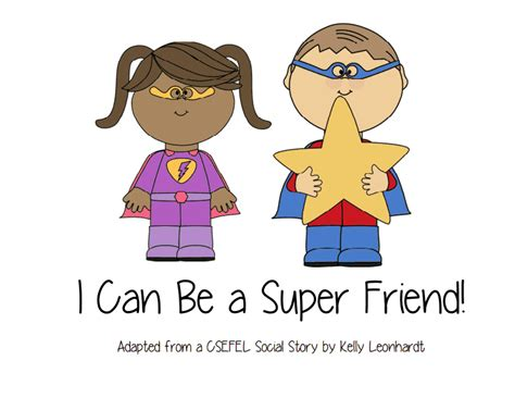 Pdf How Be Friend Friends Families by I Can Be A Friend Social Story Pdf Drive