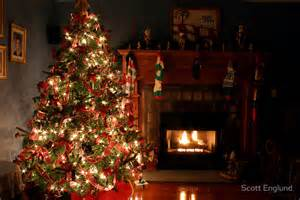 quot christmas tree by the fire quot by scott englund redbubble