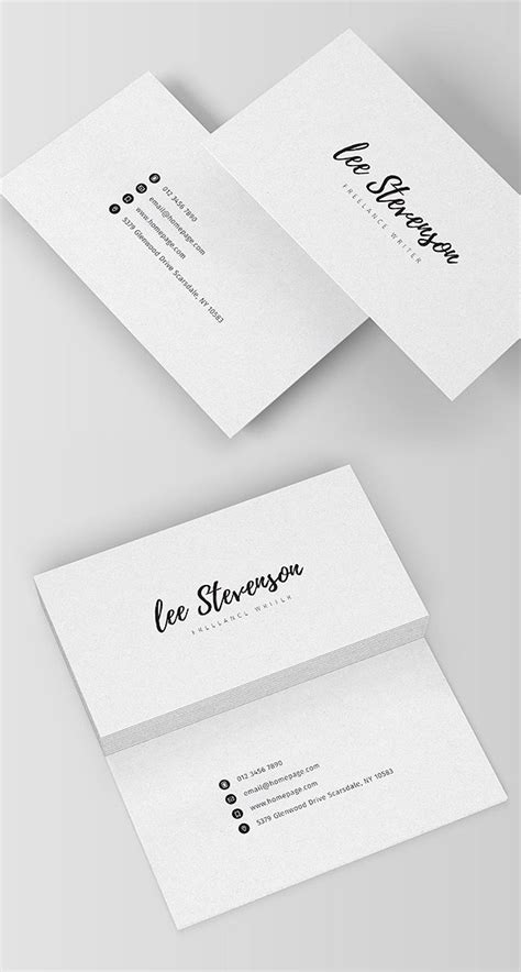 Freelance Business Cards Templates by Clean Business Card Templates Design Graphic Design