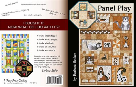 Panel Play Quilt Book four paws quilting panel play