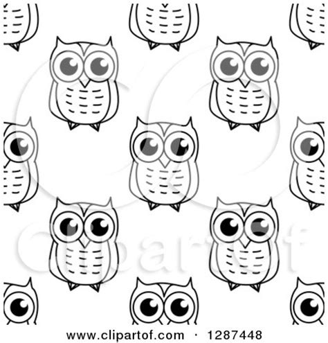 black and white owl pattern royalty free stock illustrations of owls by seamartini