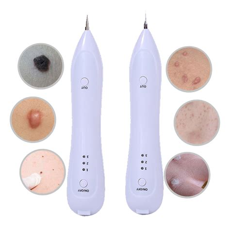 electric laser face wart skin tag tattoo removal pen black