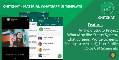 material design themes for whatsapp plus chitchat material whatsapp ui template by sleekstudio