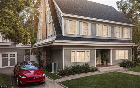 musk solar home tesla s invisible solar tiles will go on sale today daily mail
