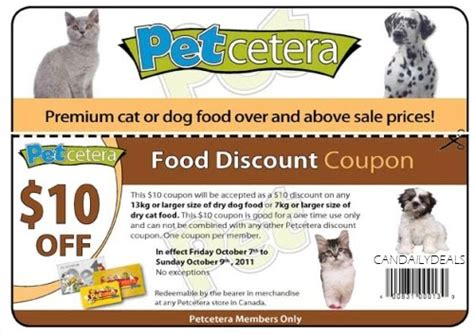 dog food coupons in canada canadian daily deals petcetera coupon 10 off dry dog or