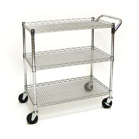Seville Classics Kitchen Utility Cart With Bamboo Top by Seville Classics Industrial All Purpose