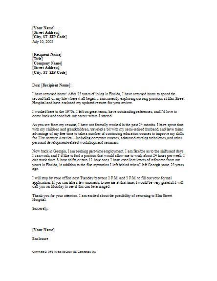 Nursing Cover Letter Template – new grad nurse cover letter example   nursing cover letter